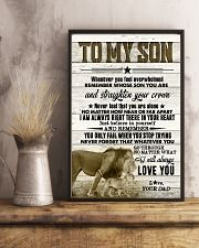 To My Son - Lions - Whenever You Feel Overwhelmed 16x24 Poster lifestyle-poster-3