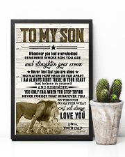 To My Son - Lions - Whenever You Feel Overwhelmed 16x24 Poster lifestyle-poster-8