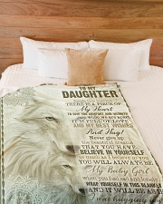 """To My Daughter - Inside This Blanket Large Fleece Blanket - 60"""" x 80"""" aos-coral-fleece-blanket-60x80-lifestyle-front-02"""