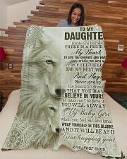 """To My Daughter - Inside This Blanket Large Fleece Blanket - 60"""" x 80"""" aos-coral-fleece-blanket-60x80-lifestyle-front-04"""