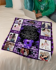 """To Daughter - Don't Let Today's Troubles  Small Fleece Blanket - 30"""" x 40"""" aos-coral-fleece-blanket-30x40-lifestyle-front-07"""