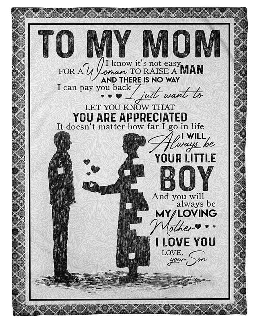 "SON TO MOM Small Fleece Blanket - 30"" x 40"""