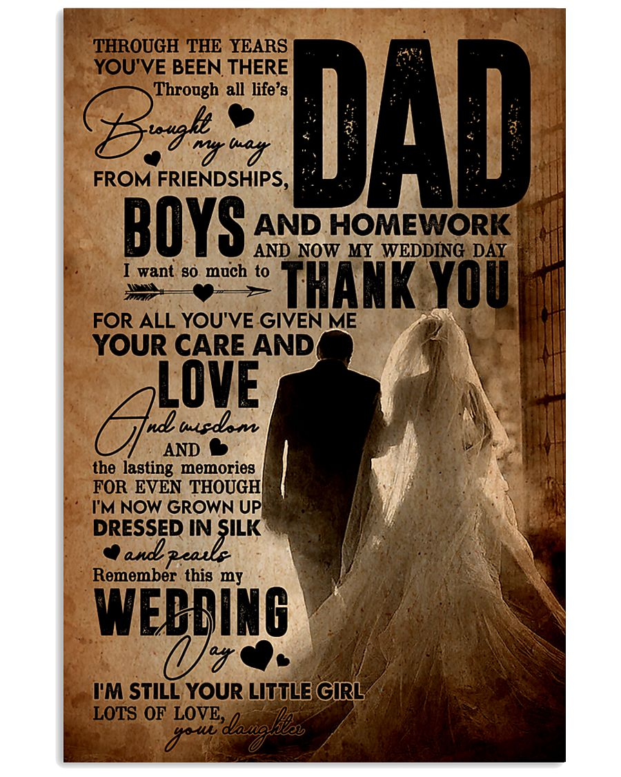 To My Dad - Wedding Day - Poster 16x24 Poster