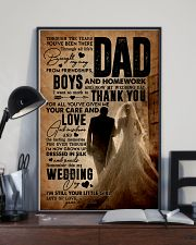 To My Dad - Wedding Day - Poster 16x24 Poster lifestyle-poster-2