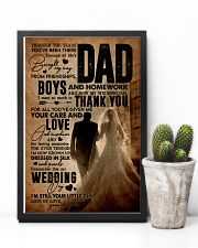 To My Dad - Wedding Day - Poster 16x24 Poster lifestyle-poster-8