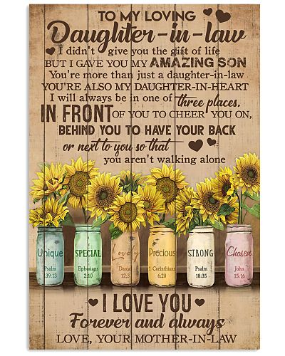 TO MY DAUGHTER-IN-LAW - SUNFLOWER - I LOVE YOU