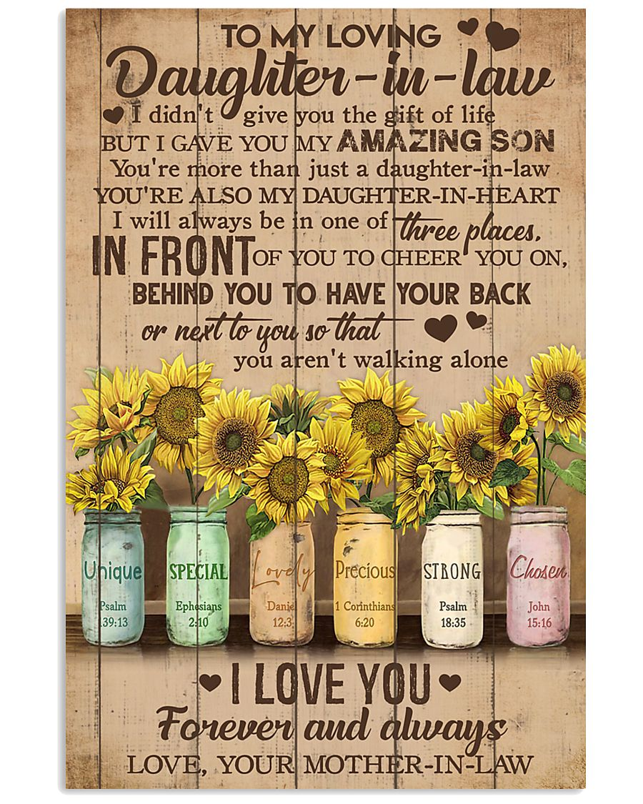 TO MY DAUGHTER-IN-LAW - SUNFLOWER - I LOVE YOU 16x24 Poster