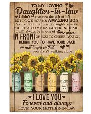 TO MY DAUGHTER-IN-LAW - SUNFLOWER - I LOVE YOU 16x24 Poster front