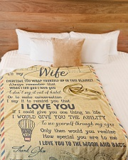 """To My Wife - Letter - Everytime You Wrap Yourself  Large Fleece Blanket - 60"""" x 80"""" aos-coral-fleece-blanket-60x80-lifestyle-front-02"""