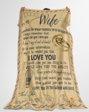 """To My Wife - Letter - Everytime You Wrap Yourself  Large Fleece Blanket - 60"""" x 80"""" aos-coral-fleece-blanket-60x80-lifestyle-front-10"""