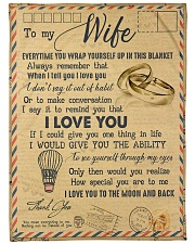 """To My Wife - Letter - Everytime You Wrap Yourself  Large Fleece Blanket - 60"""" x 80"""" front"""