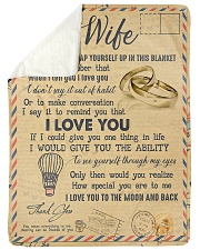 """To My Wife - Letter - Everytime You Wrap Yourself  Large Sherpa Fleece Blanket - 60"""" x 80"""" thumbnail"""