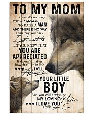 TO MY MOM - WOLF - YOU ARE APPRECIATED 16x24 Poster front