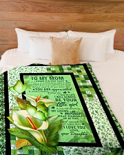 """To My Mom - Calla Lily - Fleece Blanket Large Fleece Blanket - 60"""" x 80"""" aos-coral-fleece-blanket-60x80-lifestyle-front-02"""