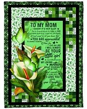 "To My Mom - Calla Lily - Fleece Blanket Large Fleece Blanket - 60"" x 80"" front"