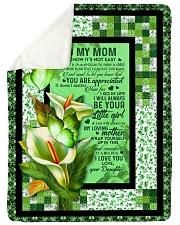 To My Mom - Calla Lily - Fleece Blanket Sherpa Fleece Blanket tile