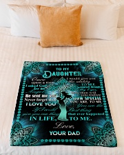 "Daughter - Cross - Once Upon A Time Small Fleece Blanket - 30"" x 40"" aos-coral-fleece-blanket-30x40-lifestyle-front-04"