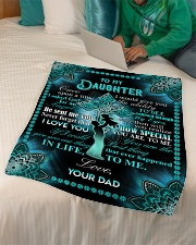 "Daughter - Cross - Once Upon A Time Small Fleece Blanket - 30"" x 40"" aos-coral-fleece-blanket-30x40-lifestyle-front-07"