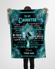 "Daughter - Cross - Once Upon A Time Small Fleece Blanket - 30"" x 40"" aos-coral-fleece-blanket-30x40-lifestyle-front-14"