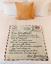 """Gift For Granddaughter - Fleece Blanket Small Fleece Blanket - 30"""" x 40"""" aos-coral-fleece-blanket-30x40-lifestyle-front-04"""