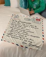 """Gift For Granddaughter - Fleece Blanket Small Fleece Blanket - 30"""" x 40"""" aos-coral-fleece-blanket-30x40-lifestyle-front-07"""