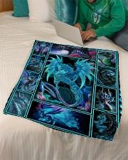 "Dragon - Fleece Blanket Small Fleece Blanket - 30"" x 40"" aos-coral-fleece-blanket-30x40-lifestyle-front-07"