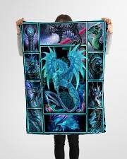 "Dragon - Fleece Blanket Small Fleece Blanket - 30"" x 40"" aos-coral-fleece-blanket-30x40-lifestyle-front-14"