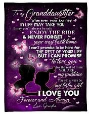 """Grandma to Granddaughter - Fleece Blanket Small Fleece Blanket - 30"""" x 40"""" front"""