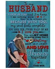 TO MY HUSBAND - COUPLE - I LOVE YOU 16x24 Poster front