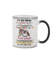 MUG - TO MY DAUGHTER-IN-LAW - UNICORN - CIRCUS Color Changing Mug thumbnail