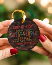 Son-in-law - Vintage - You Volunteered  Circle ornament - single (porcelain) aos-circle-ornament-single-porcelain-lifestyles-08