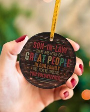 Son-in-law - Vintage - You Volunteered  Circle ornament - single (porcelain) aos-circle-ornament-single-porcelain-lifestyles-09