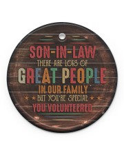 Son-in-law - Vintage - You Volunteered  Circle ornament - single (porcelain) front