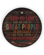 Son-in-law - Vintage - You Volunteered  Circle Ornament (Wood tile