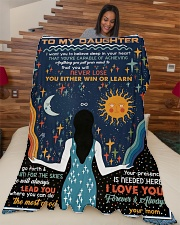 """To My Daughter - I Want You To Believe Deep Large Fleece Blanket - 60"""" x 80"""" aos-coral-fleece-blanket-60x80-lifestyle-front-04"""