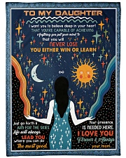 """To My Daughter - I Want You To Believe Deep Large Fleece Blanket - 60"""" x 80"""" front"""