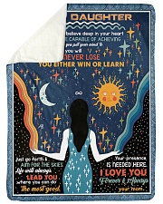 To My Daughter - I Want You To Believe Deep Sherpa Fleece Blanket tile