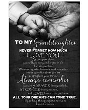 To Granddaughter - Just Do Your Best - Poster 16x24 Poster front