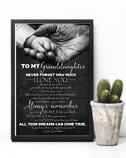 To Granddaughter - Just Do Your Best - Poster 16x24 Poster lifestyle-poster-8