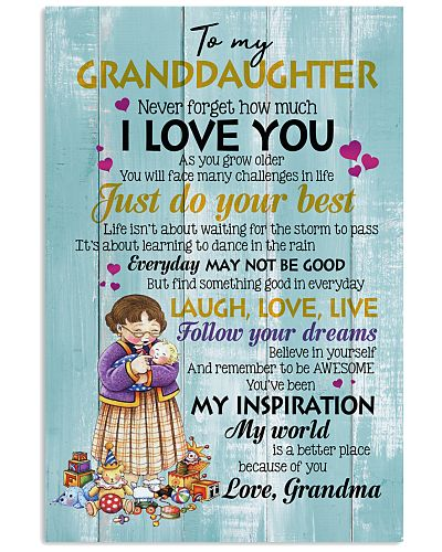 TO GRANDDAUGHTER - BABY - BETTER PLACE