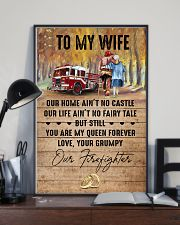 Wife - Firefighter - You Are My Queen Forever 16x24 Poster lifestyle-poster-2