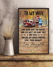 Wife - Firefighter - You Are My Queen Forever 16x24 Poster lifestyle-poster-3