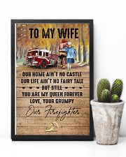 Wife - Firefighter - You Are My Queen Forever 16x24 Poster lifestyle-poster-8