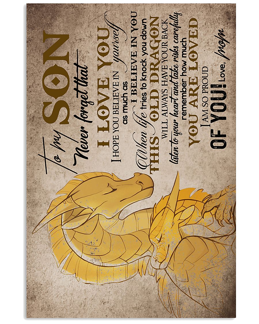 MOM TO SON - DRAGON - TAKE RISKS 16x24 Poster