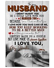 TO MY HUSBAND - RING - I LOVE YOU 16x24 Poster front