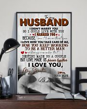 TO MY HUSBAND - RING - I LOVE YOU 16x24 Poster lifestyle-poster-2