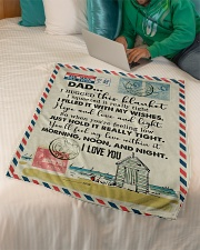 "To My Dad - Love Letter - Fleece Blanket Small Fleece Blanket - 30"" x 40"" aos-coral-fleece-blanket-30x40-lifestyle-front-07"