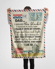 "To My Dad - Love Letter - Fleece Blanket Small Fleece Blanket - 30"" x 40"" aos-coral-fleece-blanket-30x40-lifestyle-front-14"