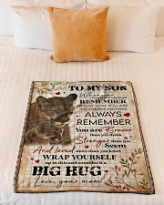 """To My Son - Lions - Whenever You Feel Overwhelmed Small Fleece Blanket - 30"""" x 40"""" aos-coral-fleece-blanket-30x40-lifestyle-front-04"""
