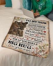 """To My Son - Lions - Whenever You Feel Overwhelmed Small Fleece Blanket - 30"""" x 40"""" aos-coral-fleece-blanket-30x40-lifestyle-front-07"""